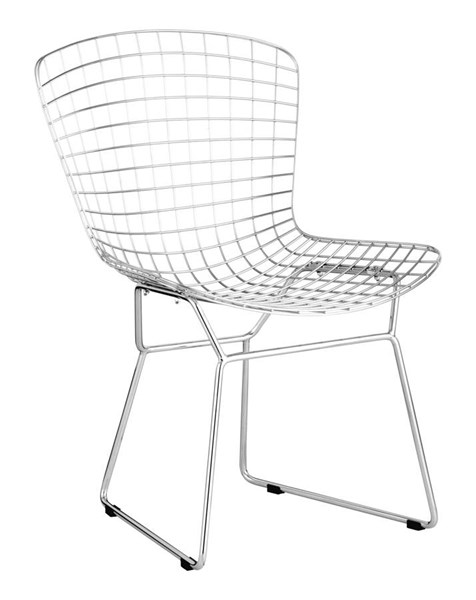 Zuo Furniture Wire Mesh Black Cushion Dining Chairs ZUO-188000-04