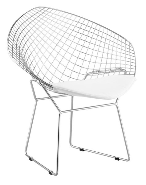 2 Zuo Furniture Net White Dining Chairs ZUO-188021