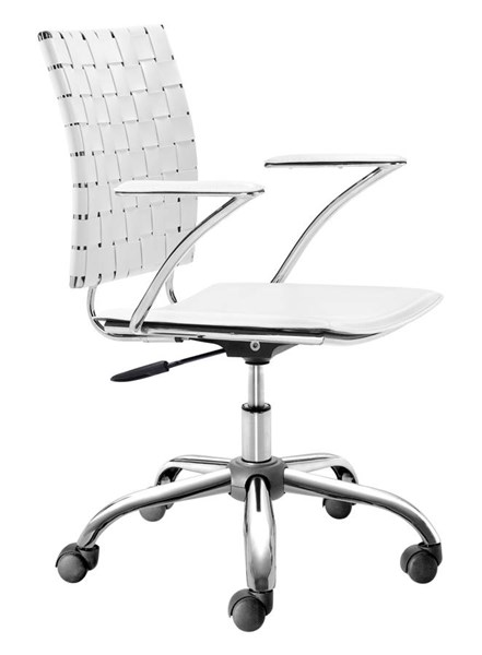 Zuo Furniture Criss Cross White Office Chair ZUO-205031