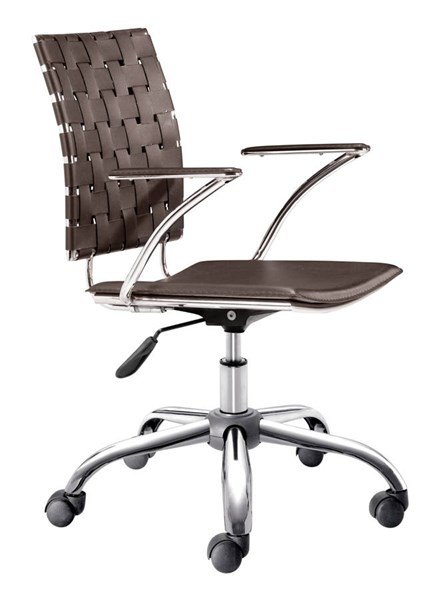 Zuo Furniture Criss Cross Espresso Office Chair ZUO-205032
