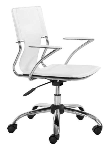 Zuo Furniture Trafico White Office Chair ZUO-205182