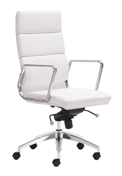 Zuo Furniture Engineer White High Back Office Chair ZUO-205893