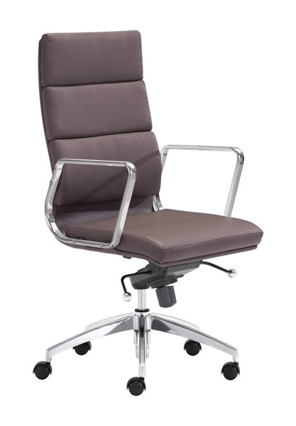 Zuo Furniture Engineer Espresso High Back Office Chair ZUO-205894