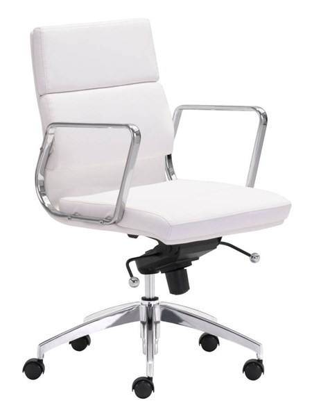 Zuo Furniture Engineer White Low Back Office Chair ZUO-205896