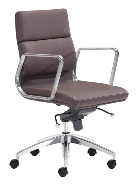 Zuo Furniture Engineer Espresso Low Back Office Chair ZUO-205897