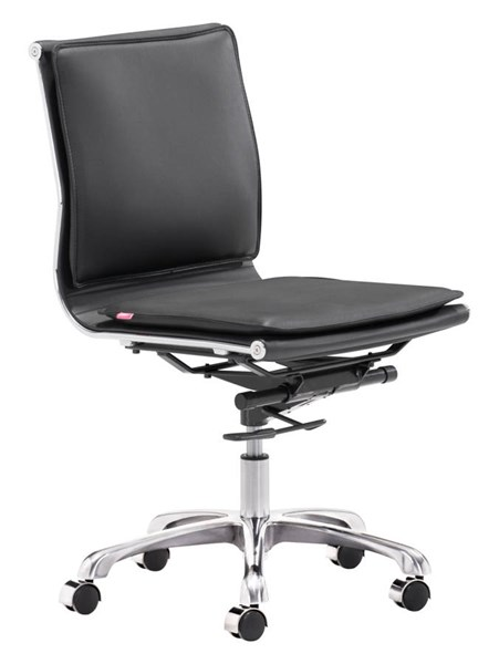 Zuo Furniture Lider Plus Black Armless Office Chair ZUO-215218