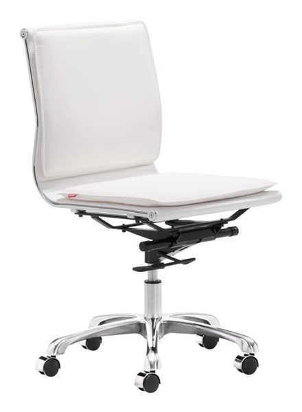 Zuo Furniture Lider Plus White Armless Office Chair ZUO-215219