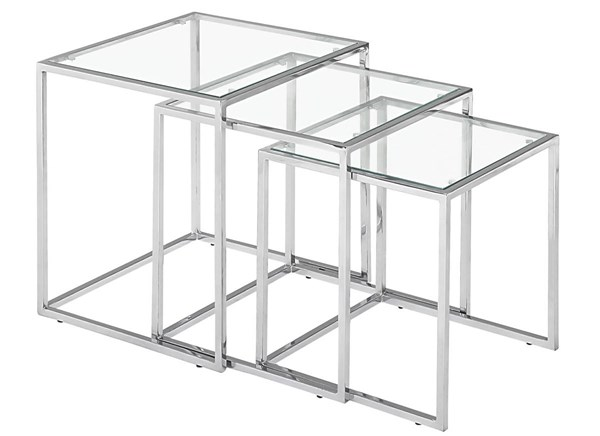 Zuo Furniture Pasos Chrome 3pc Nesting Tables ZUO-401105