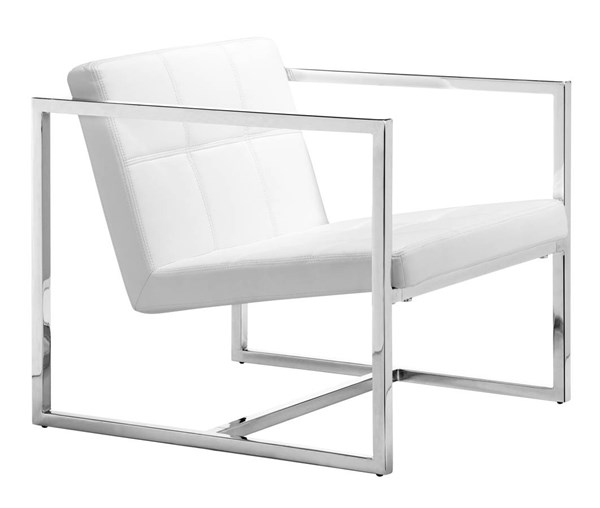 Zuo Furniture Carbon White Occasional Chair ZUO-500074