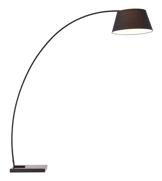 Zuo Furniture Vortex Pure Black Floor Lamp ZUO-50074