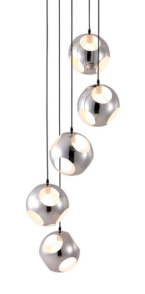 Zuo Furniture Meteor Shower Pure Chrome Ceiling Lamp ZUO-50102