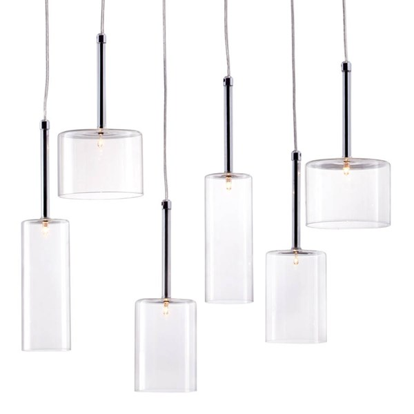 Zuo Furniture Hale Pure Clear Round Ceiling Lamp ZUO-50140