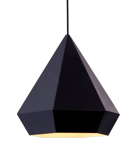 Zuo Furniture Forecast Pure Black Ceiling Lamp ZUO-50168
