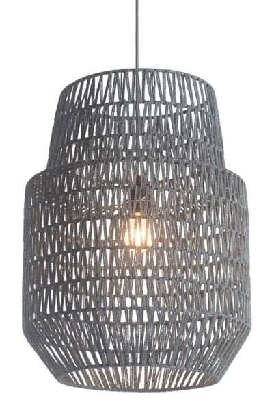 Zuo Furniture Daydream Gray Ceiling Lamp ZUO-50209