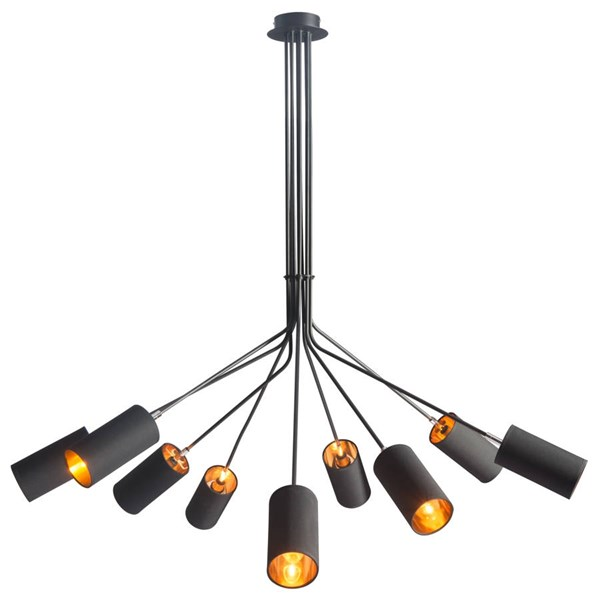 Zuo Furniture Ambition Pure Black Ceiling Lamp ZUO-50214