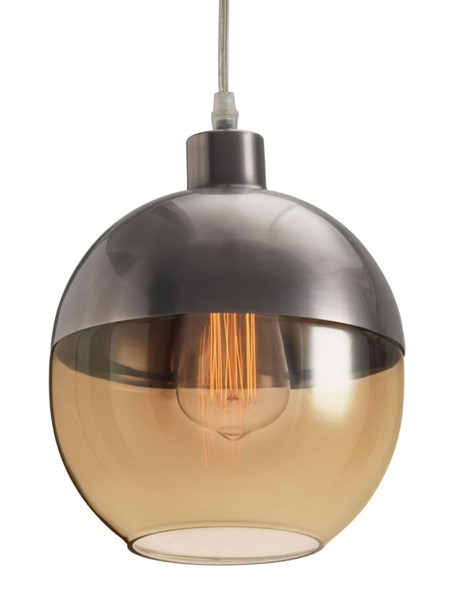 Zuo Furniture Trente Satin and Amber Silver Ceiling Lamp ZUO-50315