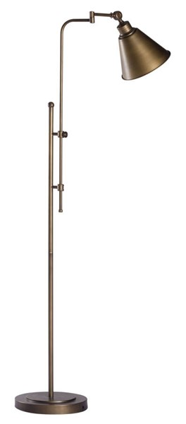 Zuo Furniture Rush Vintage Brushed Bronze Floor Lamp ZUO-56005