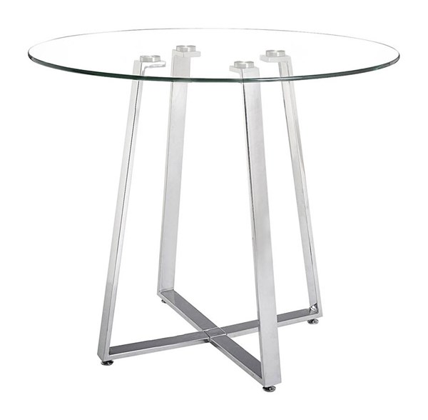 Zuo Furniture Lemon Drop Chrome Counter Table ZUO-601102