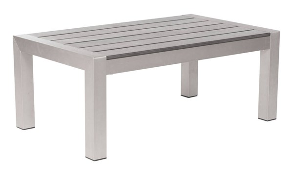 Zuo Furniture Cosmopolitan Vive Brushed Aluminum Coffee Table ZUO-701860