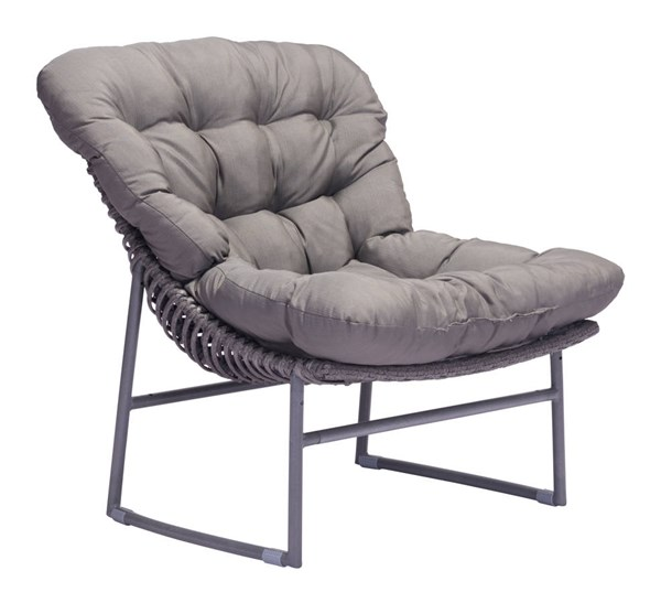 Zuo Furniture Ingonish Beach Vive Gray Chair ZUO-703529