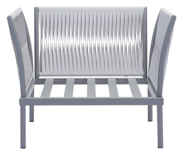Zuo Furniture Sand Beach Vive Gray Arm Chair without Cushion ZUO-703581-83