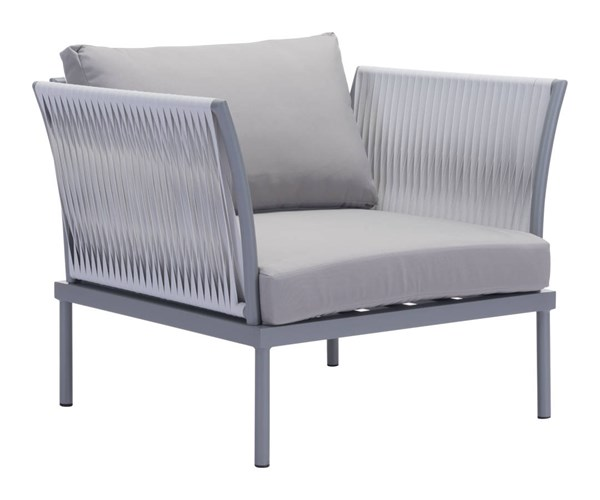 Zuo Furniture Sand Beach Vive Gray Arm Chair with Cushion ZUO-703581-83-84-85