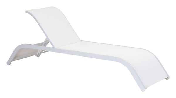 Zuo Furniture Sun Beach Vive White Chaise Lounge ZUO-703586