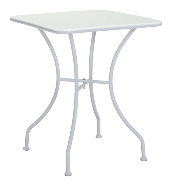 Zuo Furniture Oz Vive Powder Coated White Square Dining Table ZUO-703604