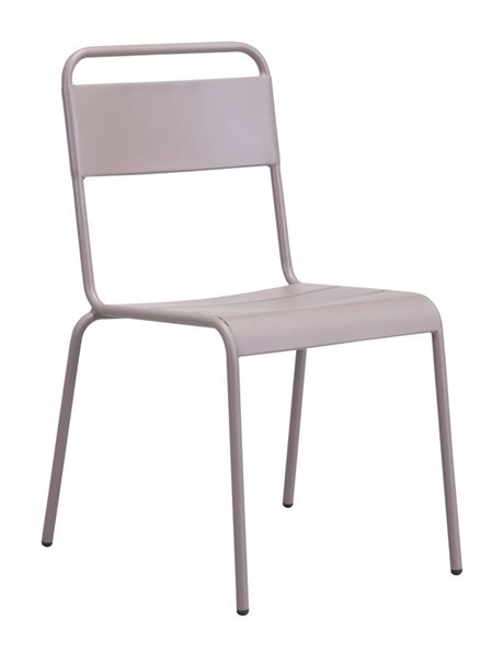 2 Zuo Furniture Oh Vive Taupe Powder Coated Dining Chairs ZUO-703613