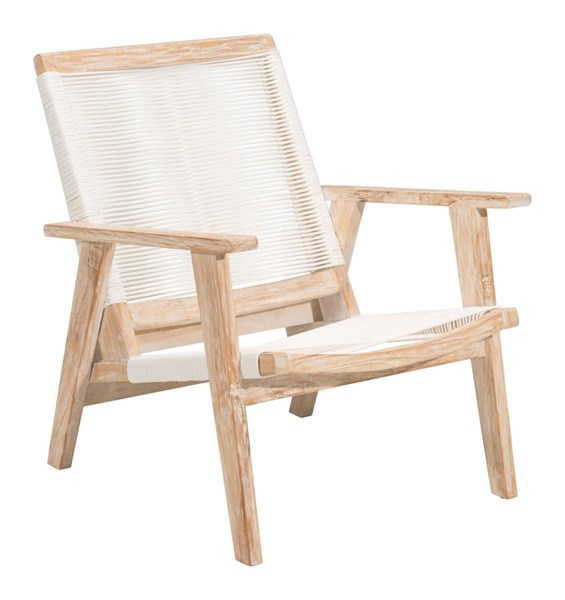 Zuo Furniture West Port Vive White Arm Chair ZUO-703744