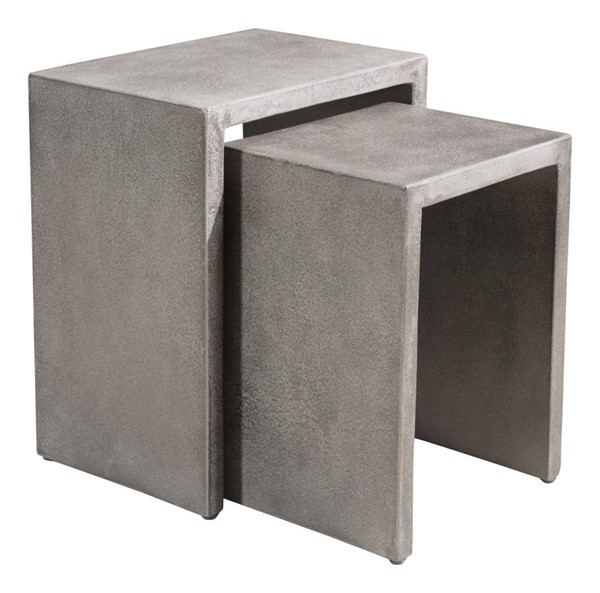 Furniture Deals Independence: Zuo Furniture Mom Cement 2pc Nesting Side Table