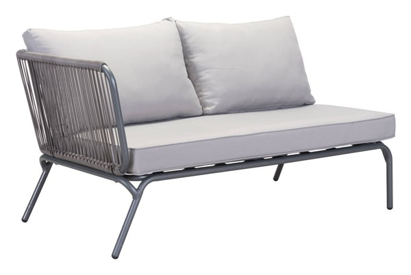 Zuo Furniture Pier Vive Gray LAF Double Seat ZUO-703785