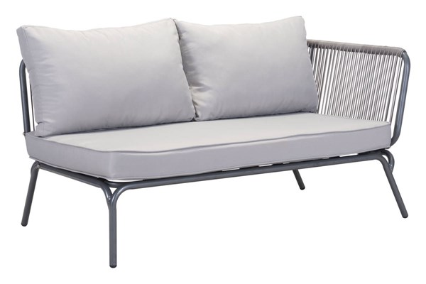 Zuo Furniture Pier Vive Gray RAF Double Seat ZUO-703786