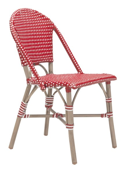 2 Zuo Furniture Paris Vive Red Dining Chairs ZUO-703803