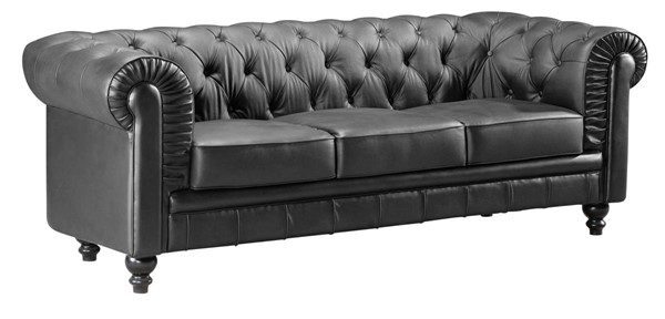 Zuo Furniture Aristocrat Black Tufted Back Sofa ZUO-900110