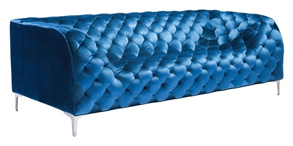 Zuo Furniture Providence Neon Blue Sofa ZUO-900282