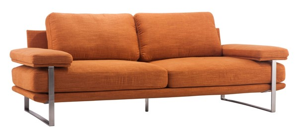 Zuo Furniture Jonkoping Orange Sofa ZUO-900625