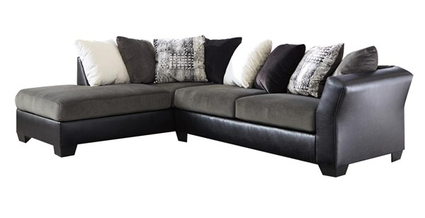 Armant Ebony Fabric Sectional (LAF Chaise & RAF Sofa) 2020016-67