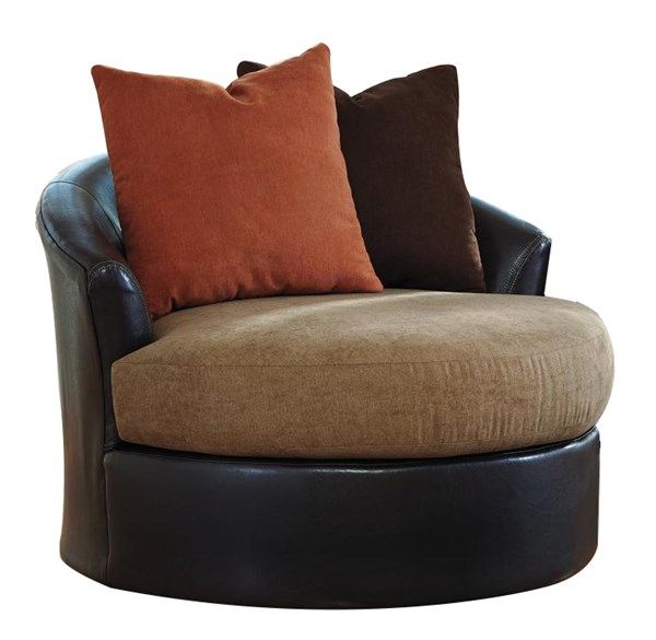 Armant Contemporary Mocha Swivel Accent Chair 2020244