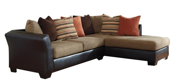Armant Contemporary Mocha Fabric Sectional (LAF Sofa & RAF Chaise) 2020217-266