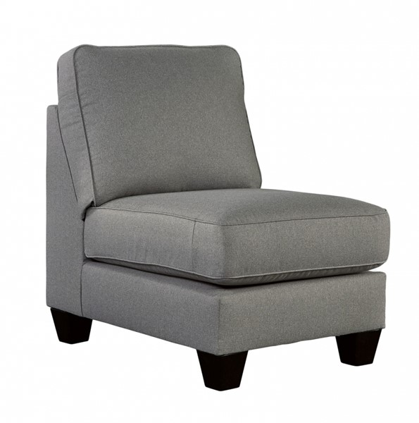 Chamberly Contemporary Alloy Wood Fabric Armless Chair 2430246