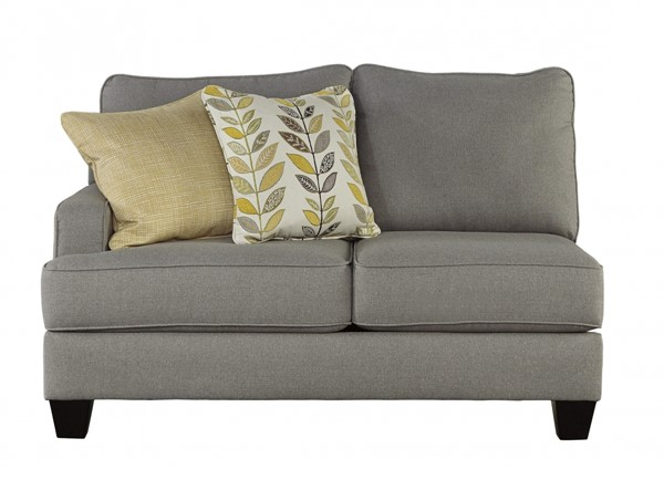 Chamberly Contemporary Alloy Wood Fabric LAF Loveseat 2430255