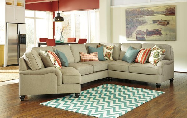 Kerridon Transitional Putty Sectional W/LAF Cuddler 26300-SEC10
