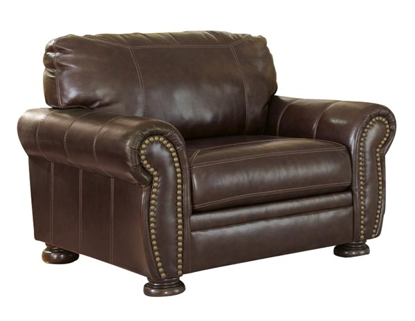 Banner Traditional Classics Coffee Leather PVC Chair And A Half 5040423