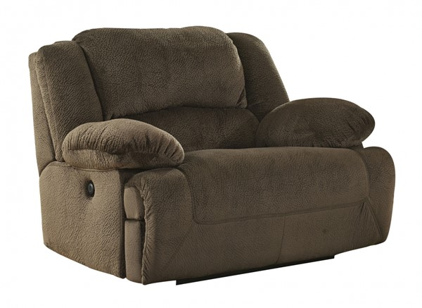 Toletta Chocolate Polyester Zero Wall Power Wide Recliner 5670182