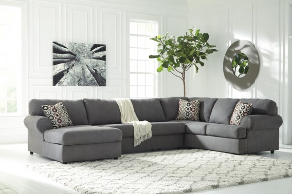 Jayceon Contemporary Steel Fabric Sectional W/LAF Corner Chaise 64902-SEC4