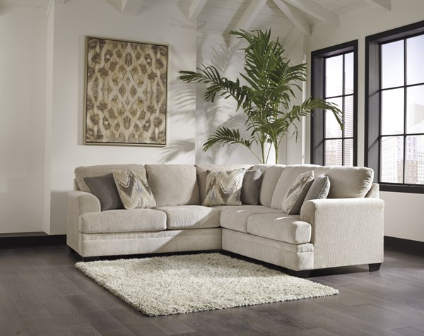 Ameer Contemporary Sand Fabric Sectional W/LAF Sofa & RAF Loveseat 81806-SEC7