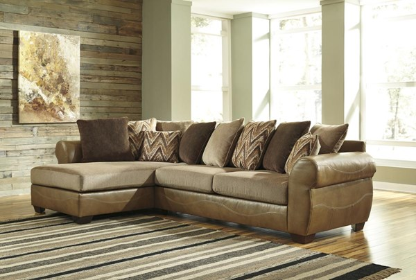 Declain Contemporary Sand Sectional W/RAF Sofa & LAF Chaise 86302-SEC2