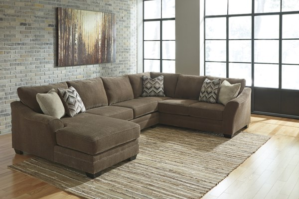 Justyna Contemporary Teak Cushion Back Sectionals 8910-SEC