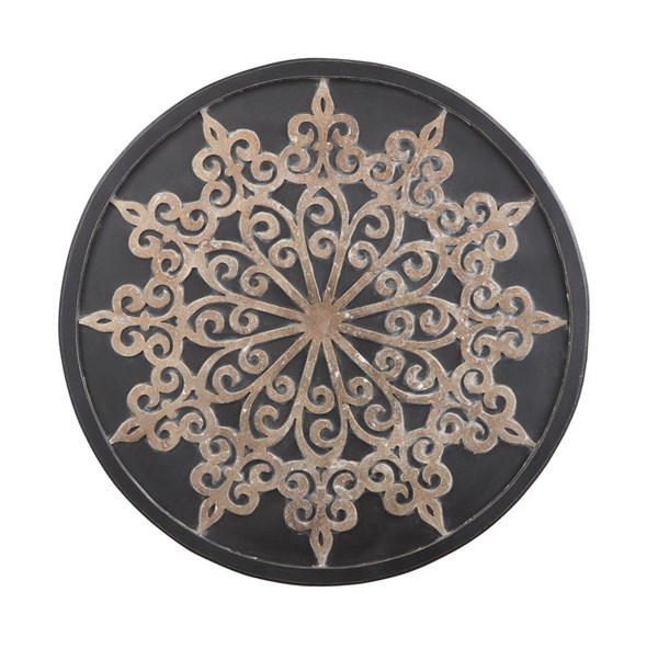 Oenomaus Traditional Black Silver Gold Wall Decor A8010035